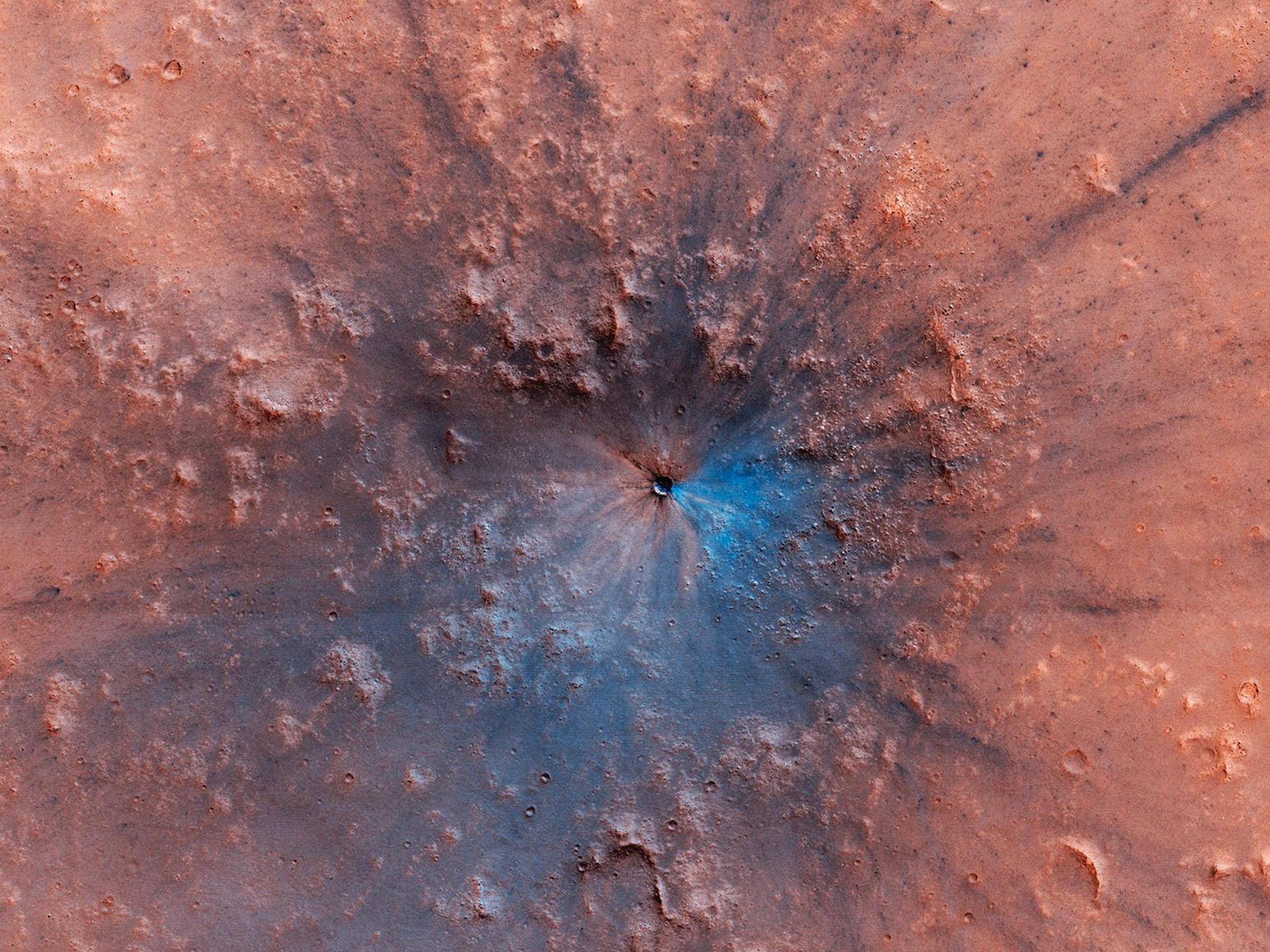 Planeta Marte crater imagine