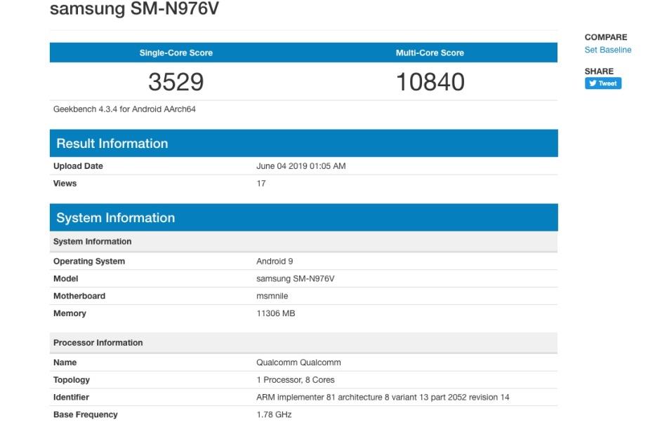Samsung GALAXY NOTE 10 umilit 5g exynos