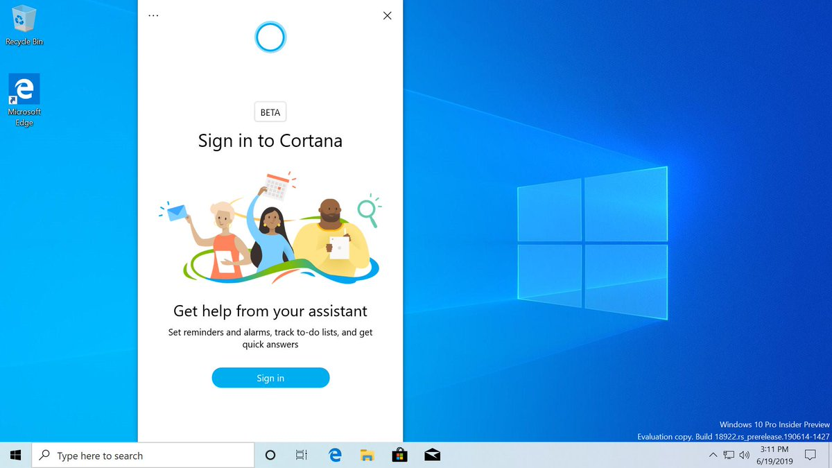 Windows 10 cortana update microsoft