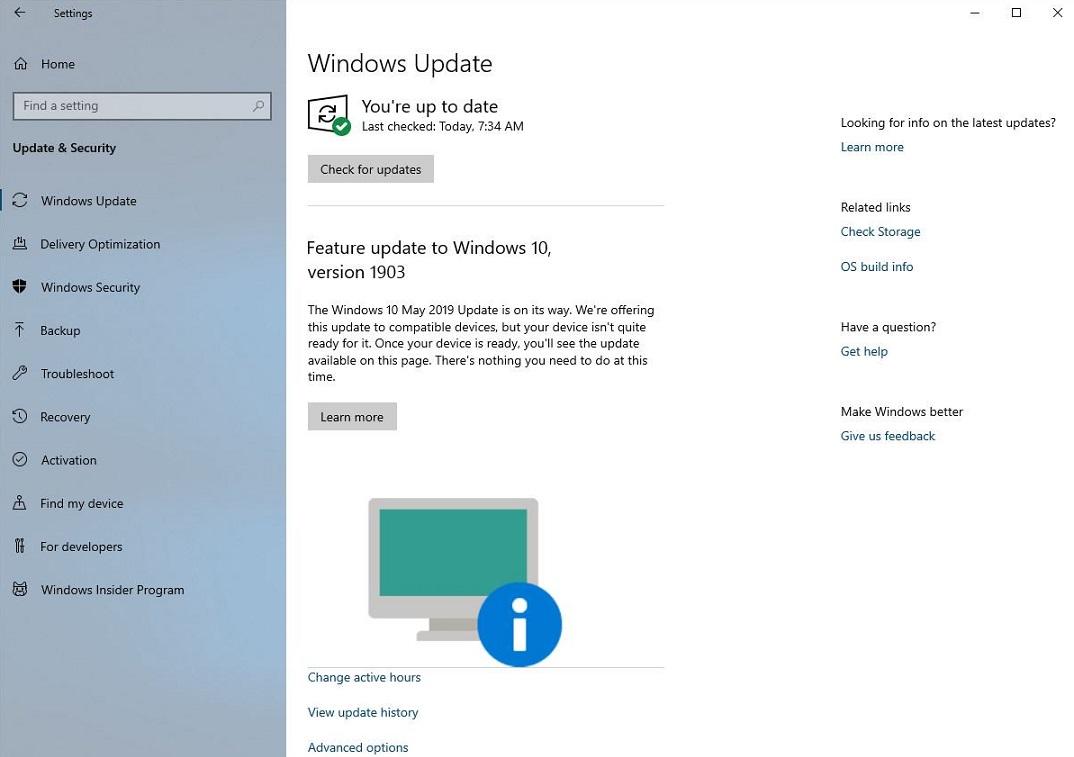 Windows 10 update blocat