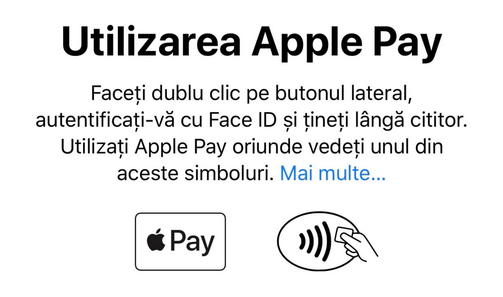 adaugi card apple pay iphone ipad