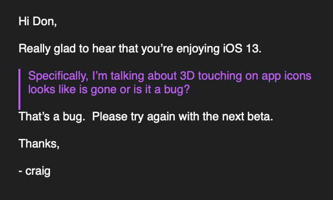iOS 13 3d touch haptic touch