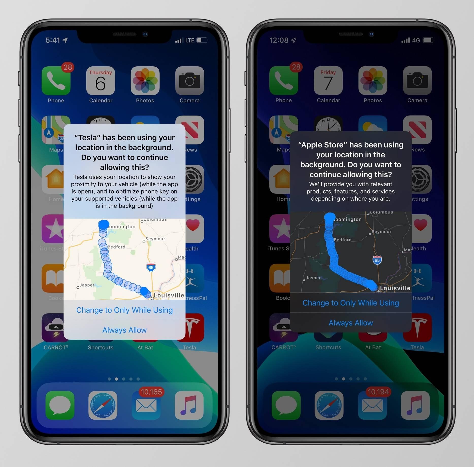 iOS 13 harta locatii urmarit aplicatii iphone