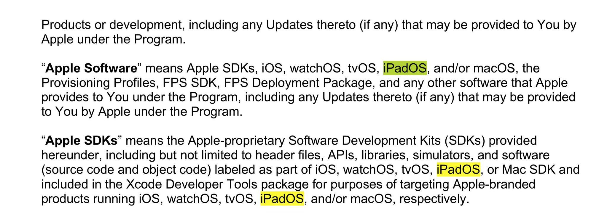 iPadOS apple