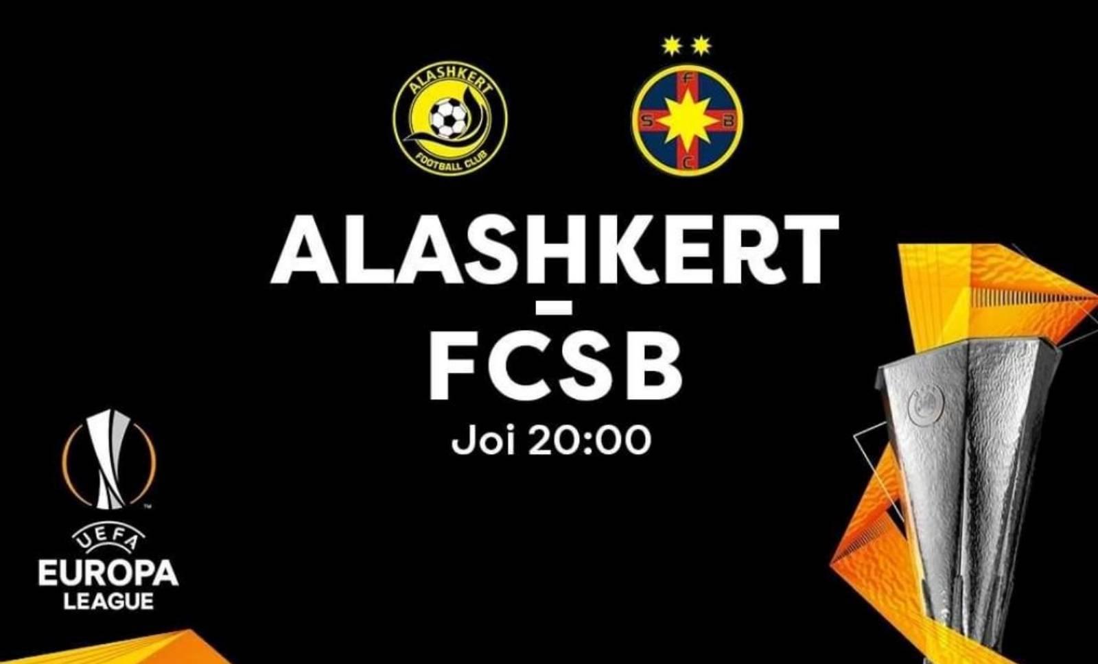 ALASHKERT - FCSB LIVE PRO TV TURUL 2 EUROPA LEAGUE 2019