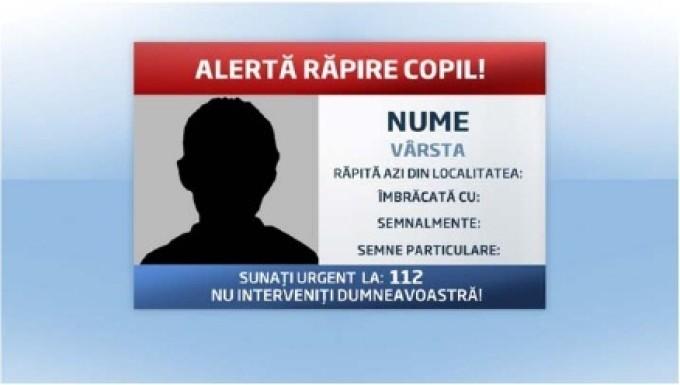 Alerta Rapire Copil informatii identificare