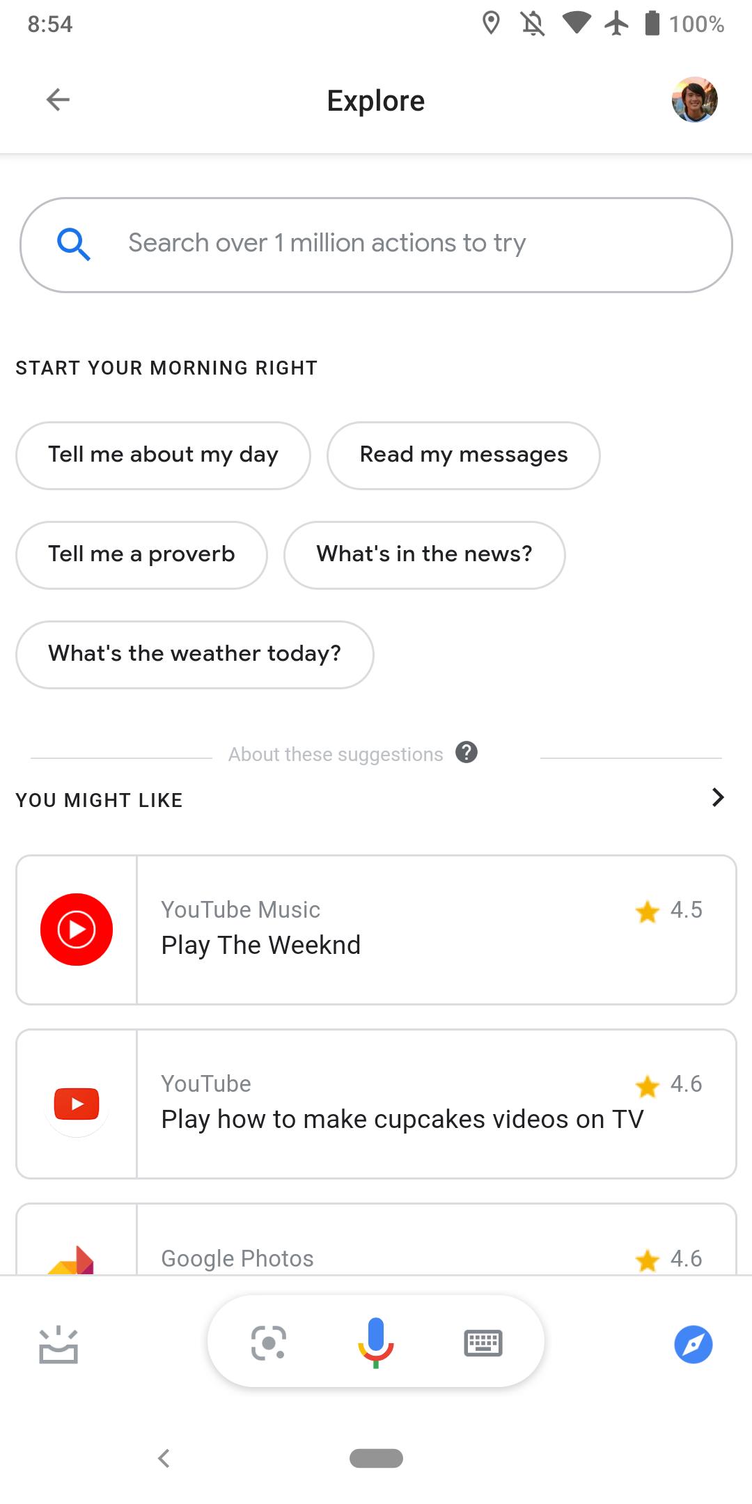 Google Assistant scurtaturi magazin explore