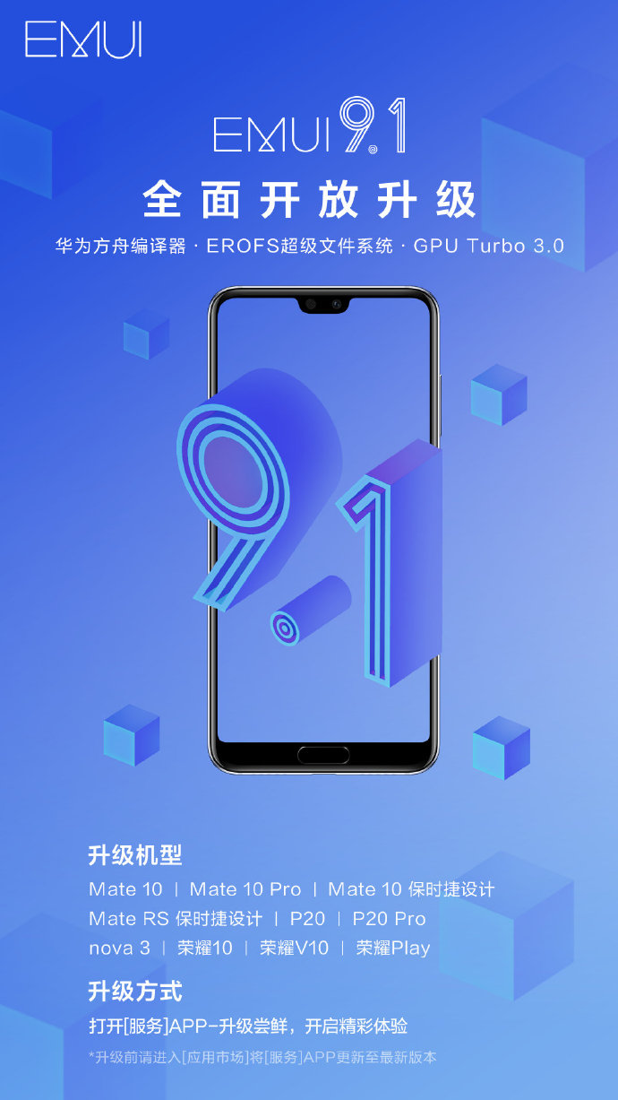Huawei update android 9 modele