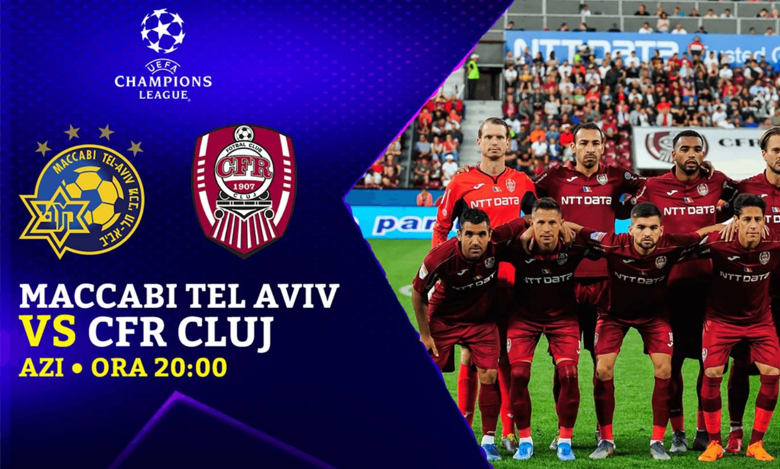 MACCABI TEL AVIV - CFR CLUJ LIVE DIGI SPORT CHAMPIONS LEAGUE