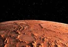 Planeta Marte piele oase 3d video