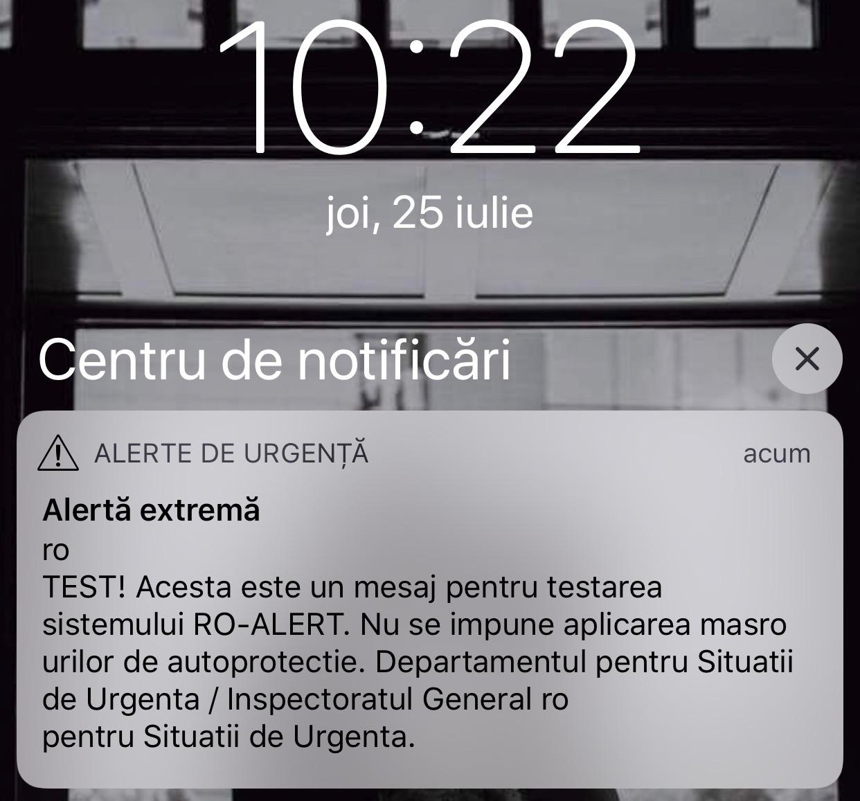 RO-ALERT. Astazi am Primit PRIMUL Mesaj de Alerta pe iPhone imagine