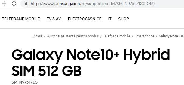 Samsung GALAXY NOTE 10 Plus CONFIRMAT OFICIAL in Romania dovada