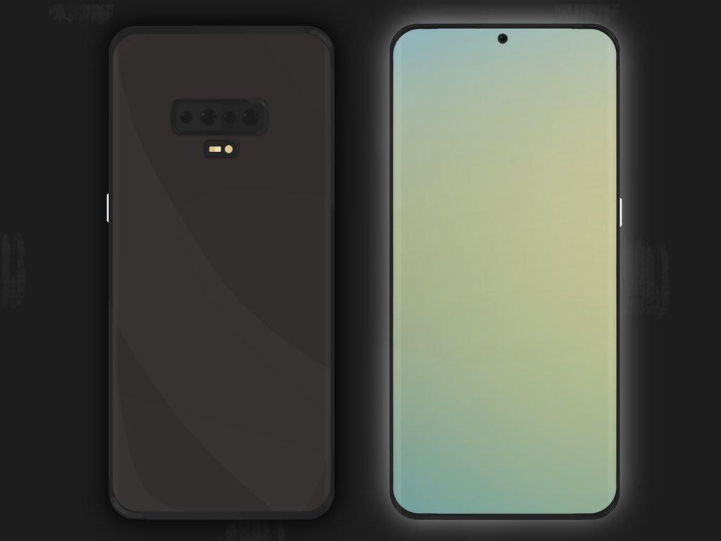 Samsung GALAXY S11 ecran perforat mijloc