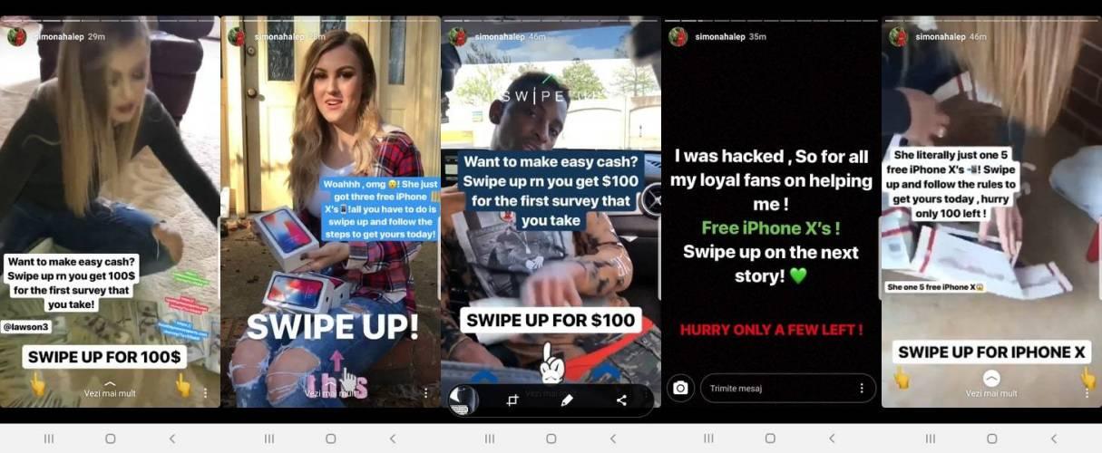 Simona Halep cont instagram spart stories