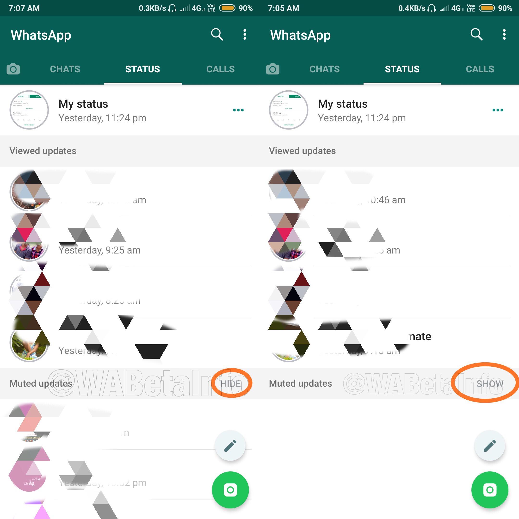 WhatsApp Messenger status mut