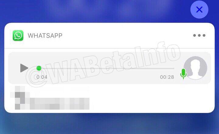 WhatsApp notificari mesaje vocale imagine
