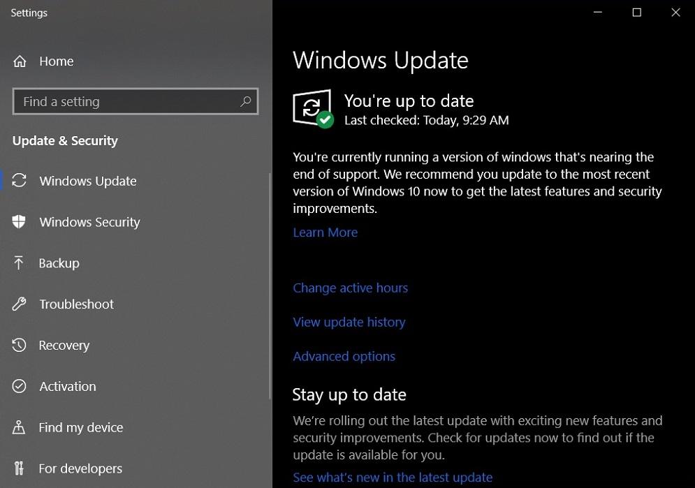 Windows 10 actualizare fortata versiune veche