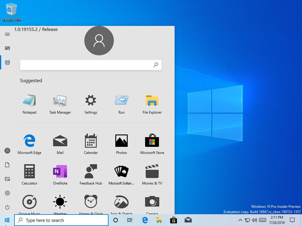 Windows 10. NOUL Start Menu Apare in Prima imagine foto