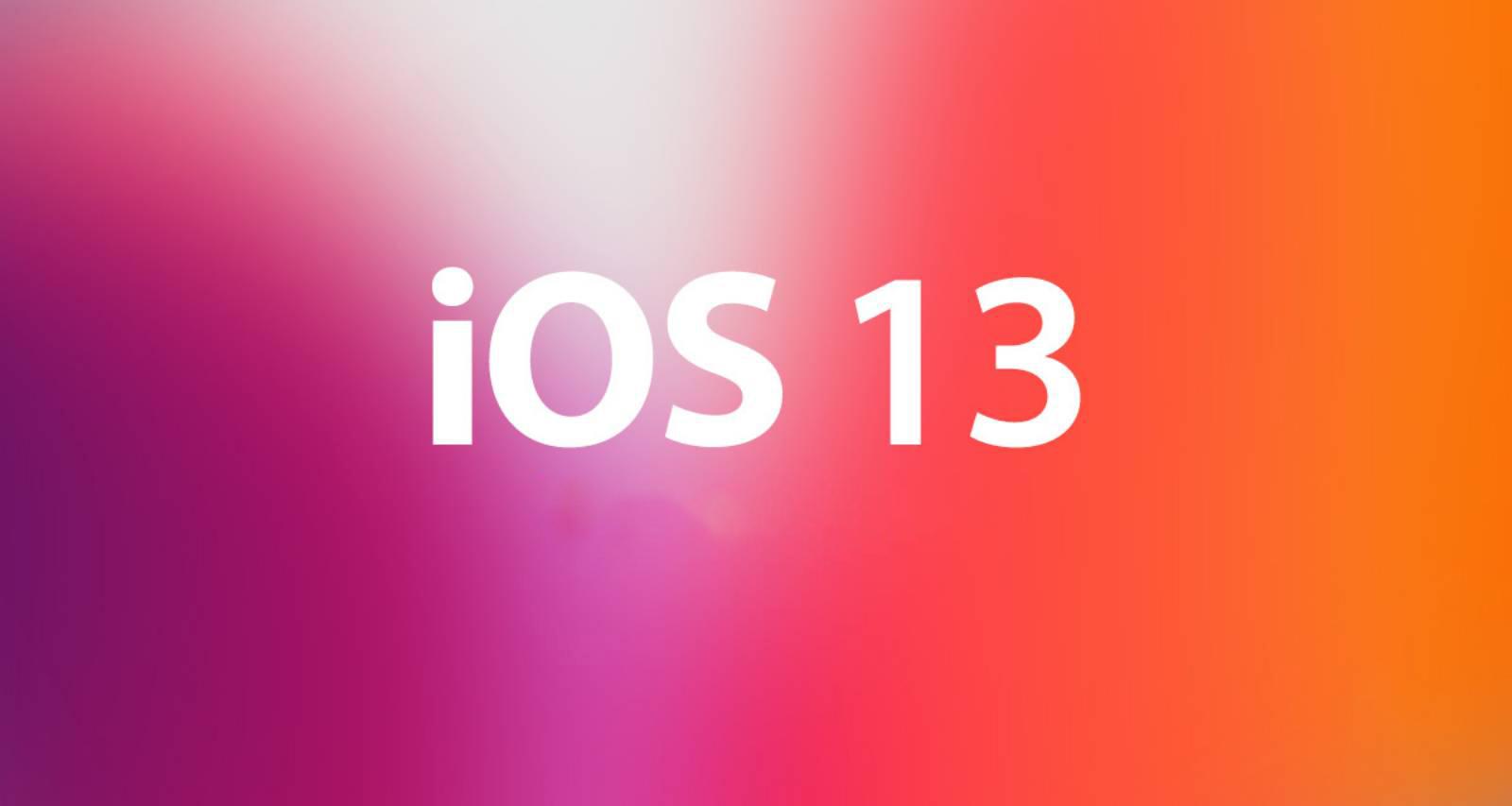 iOS 13 transfer date