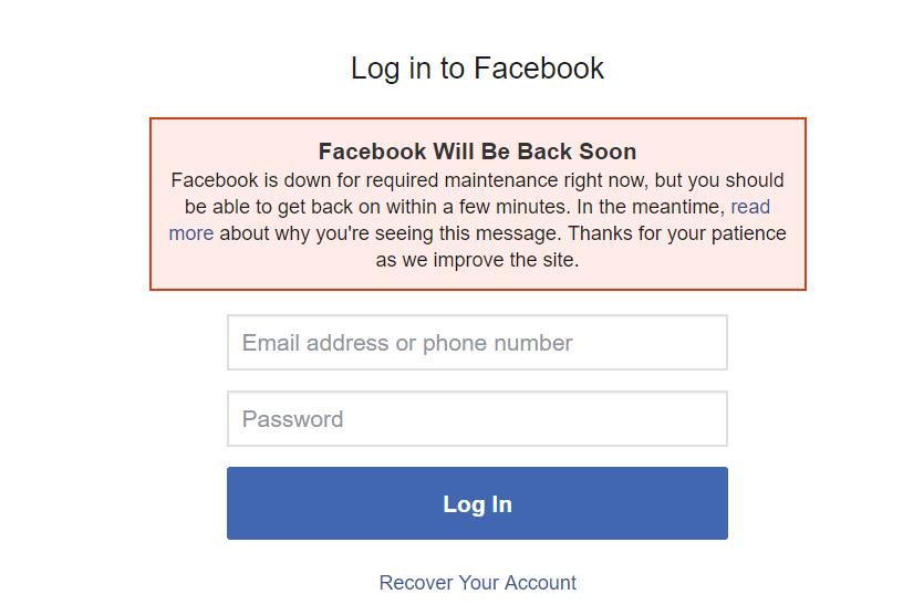 Facebook are PROBLEME, NU Functioneaza la nivel Global logare