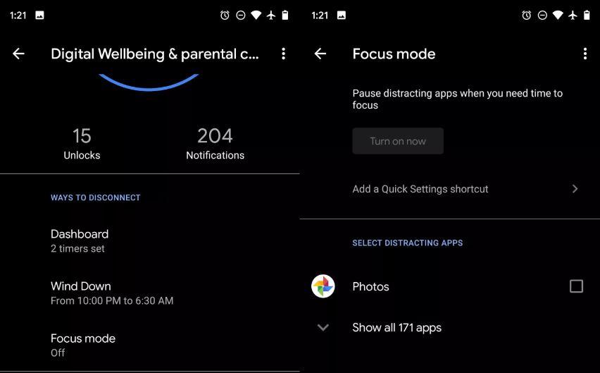 Google a COPIAT din iOS 12 o Noua Functie pentru Android focus mode