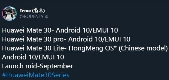 Huawei MATE 30 Primul Telefon LANSAT cu Noul Harmony OS lansare