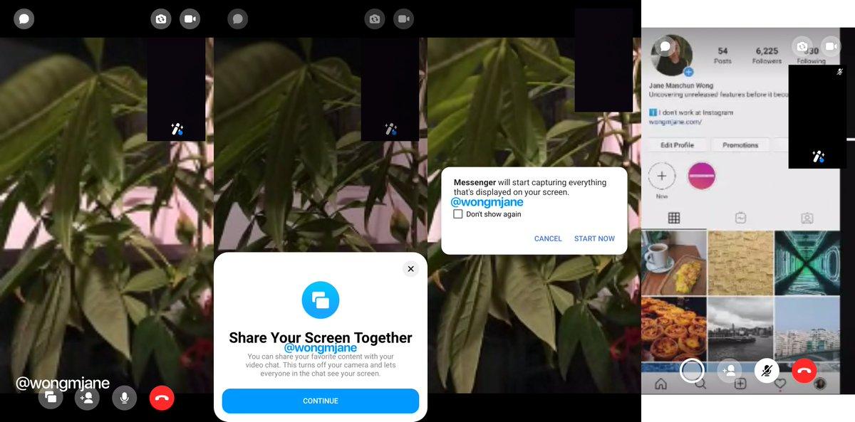 Noua Functie SURPRIZA in Facebook Messenger pentru Telefoane screen sharing