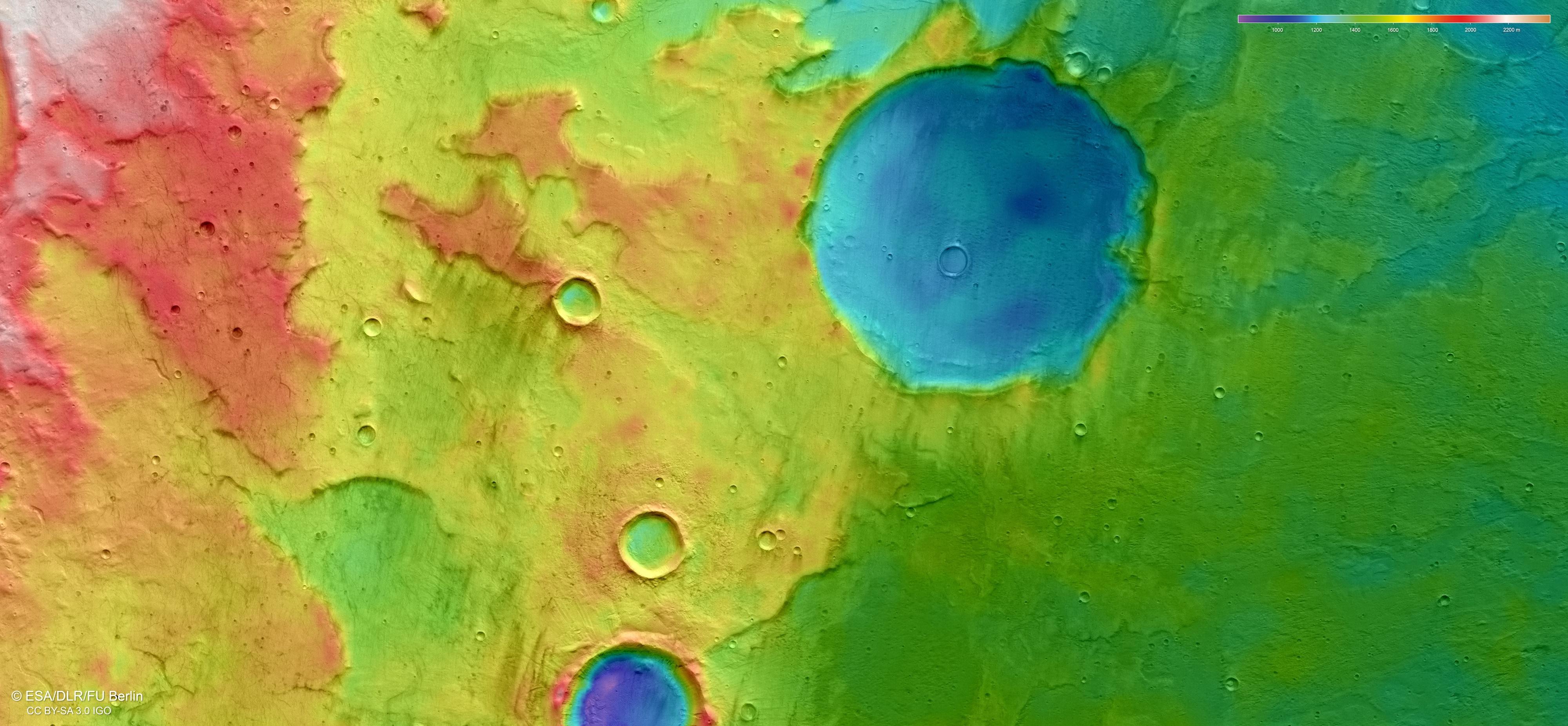 Planeta Marte. Noi Poze INCREDIBILE au UIMIT Intreaga OMENIRE topografic