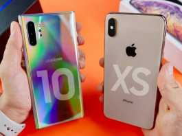 Samsung GALAXY NOTE 10 Plus UMILESTE iPhone XS (VIDEO)