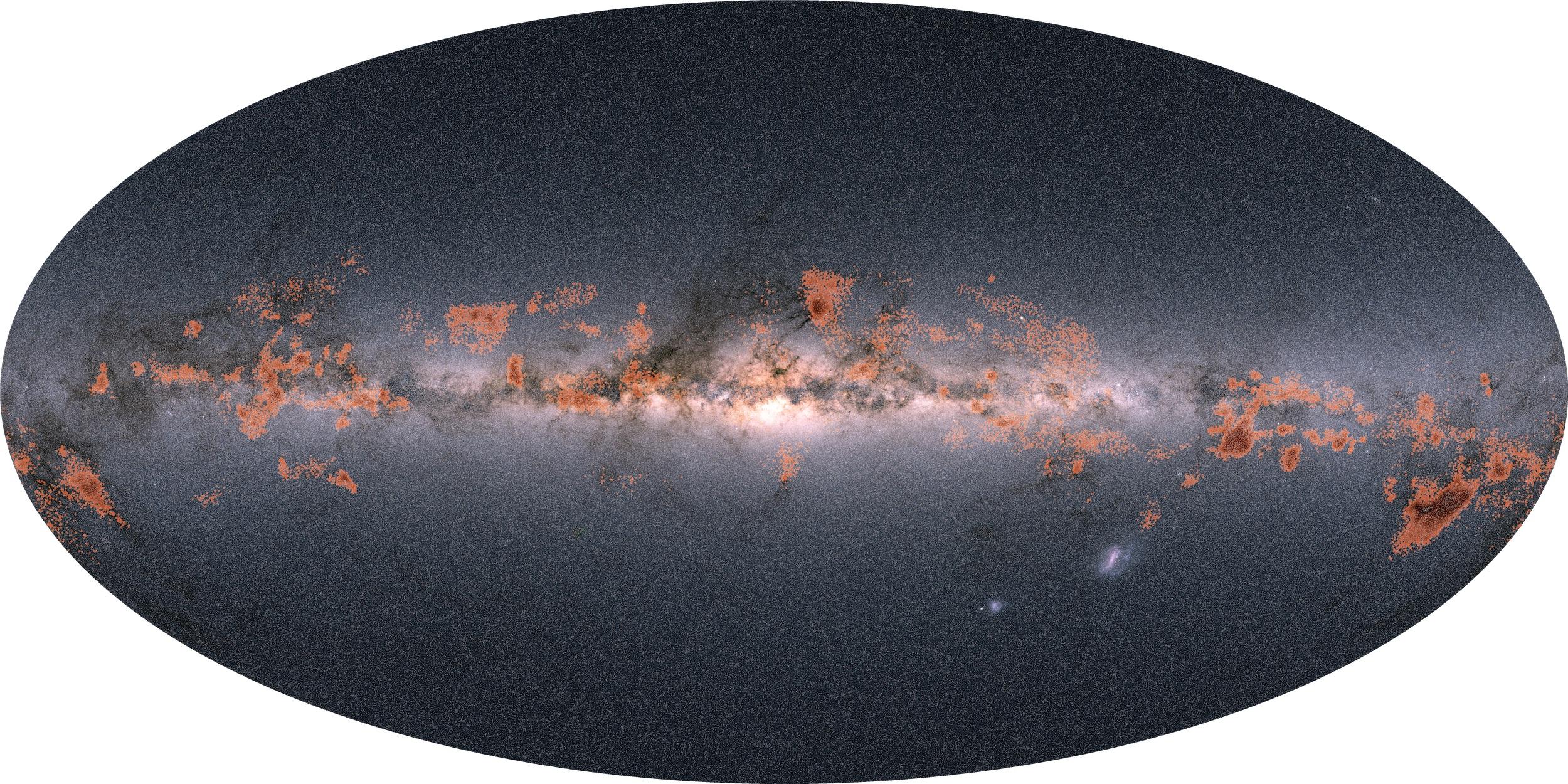 Calea Lactee. Noi Imagini ULUITOARE ce-au IMPRESIONAT si ESA formatiuni stele
