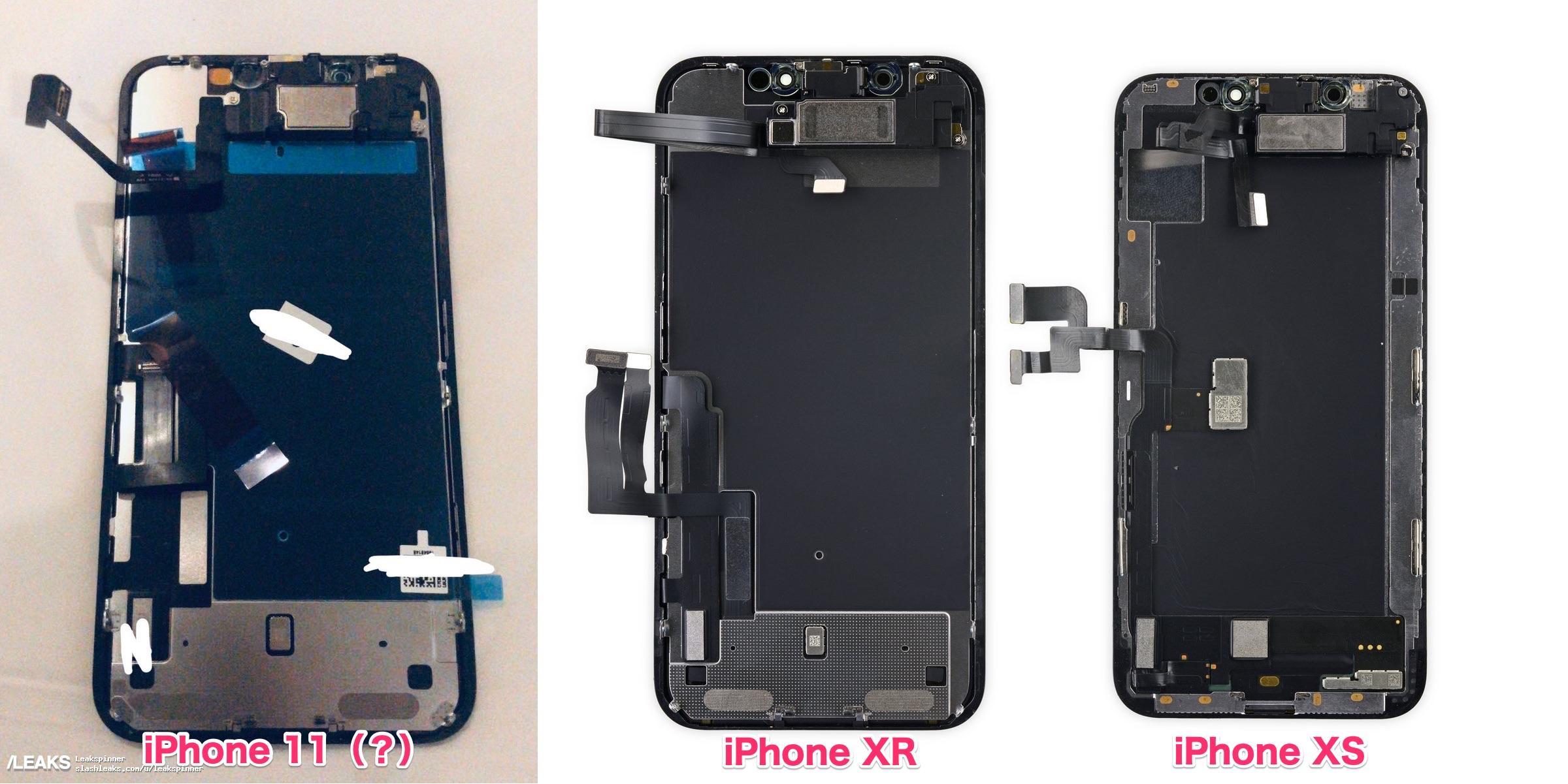 Ecranul iPhone 11 apare astazi intr-o PRIMA IMAGINE Inaintea Lansarii comparatie