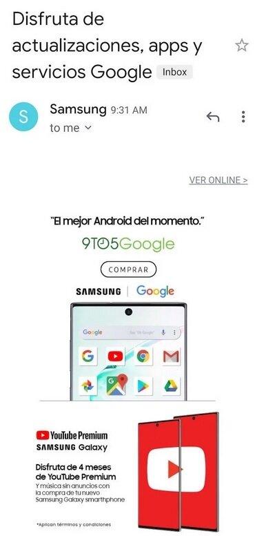 Samsung taca huawei aplicatii google