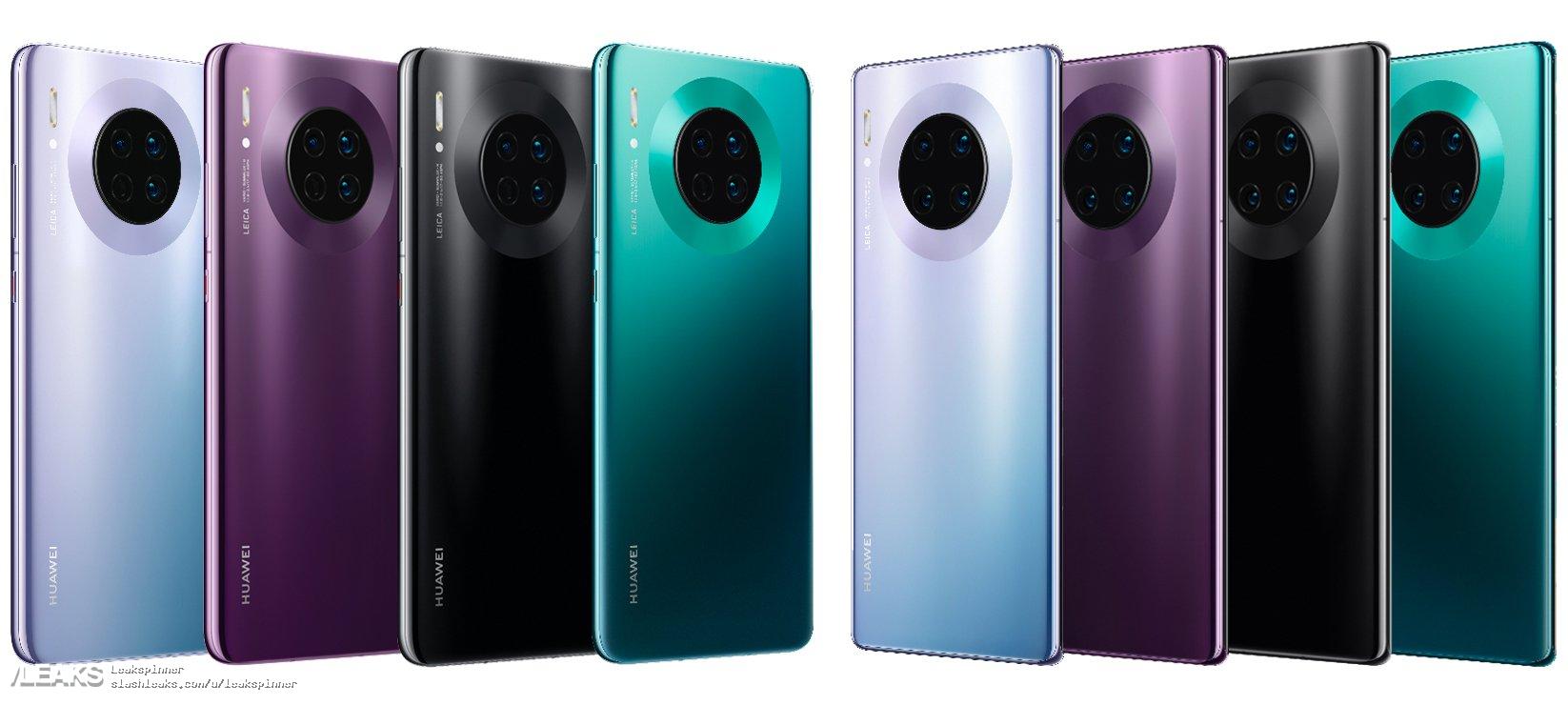 Ultimul Leak EXCLUSIV al Huawei MATE 30 PRO inainte de Lansare culori