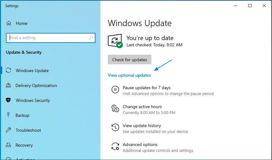 Windows 10 actualizari optionale