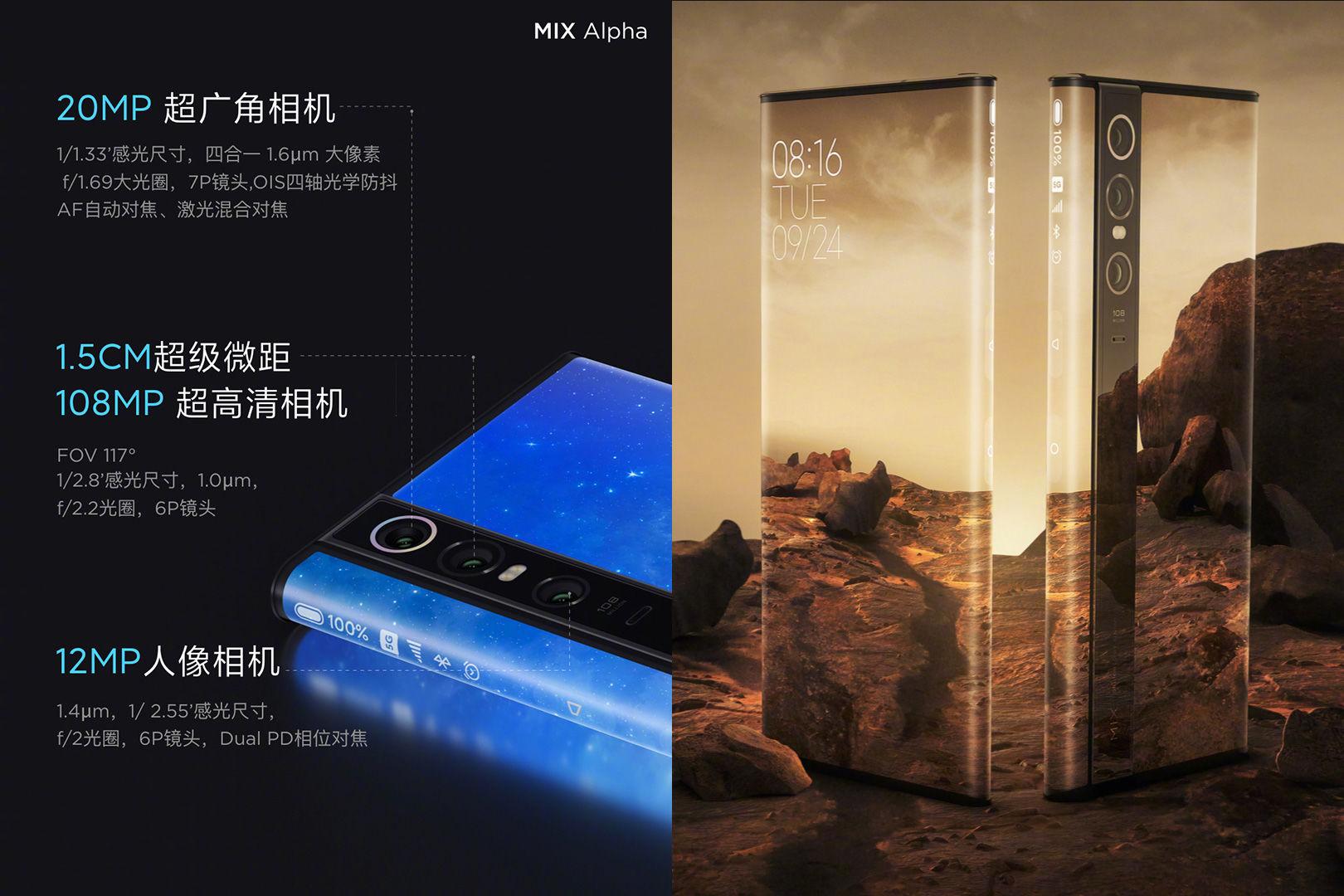 Xiaomi Mi Mix Alpha specificatii