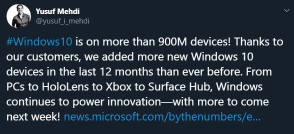 windows 10 900 milioaneatori