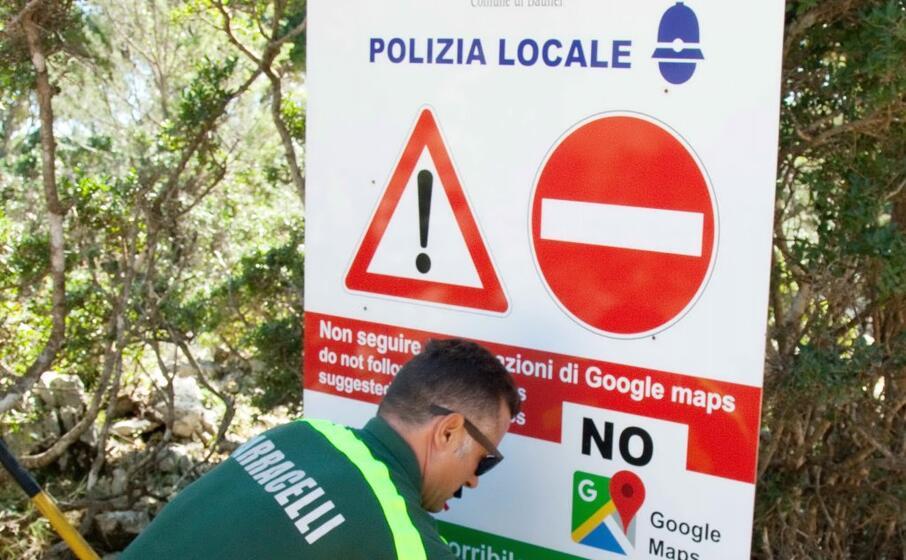 Google Maps interzisa sardinia