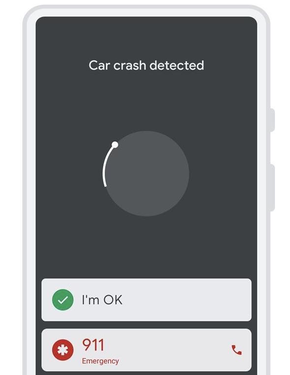 Google Pixel 4 accident rutier alerta
