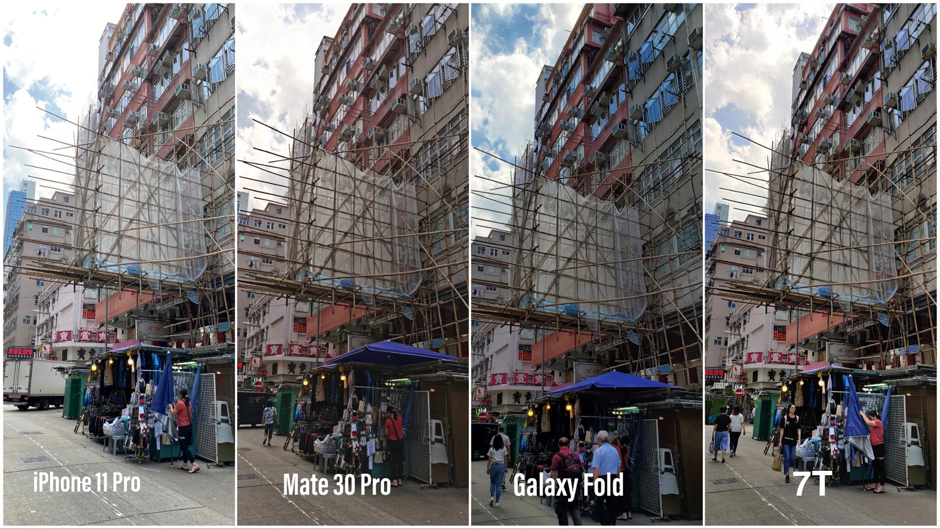 Huawei Mate 30 Pro vs iPhone 11 Pro vs Samsung GALAXY Fold Comparatia Camerelor hdr