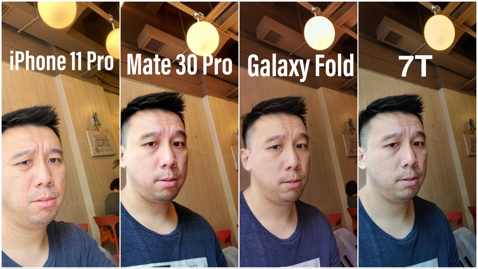 Huawei Mate 30 Pro vs iPhone 11 Pro vs Samsung GALAXY Fold Comparatia Camerelor selfie