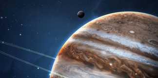 Planeta Jupiter comete