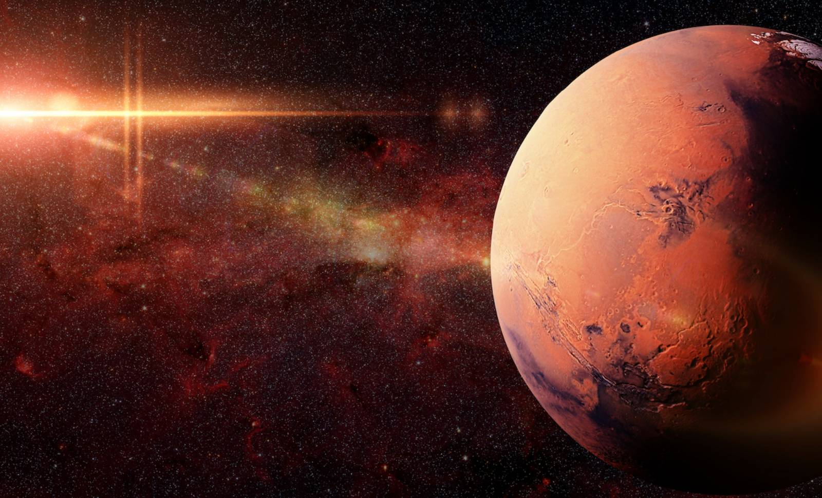 Planeta Marte imagini incredibile apa