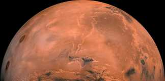 Planeta Marte lac nasa
