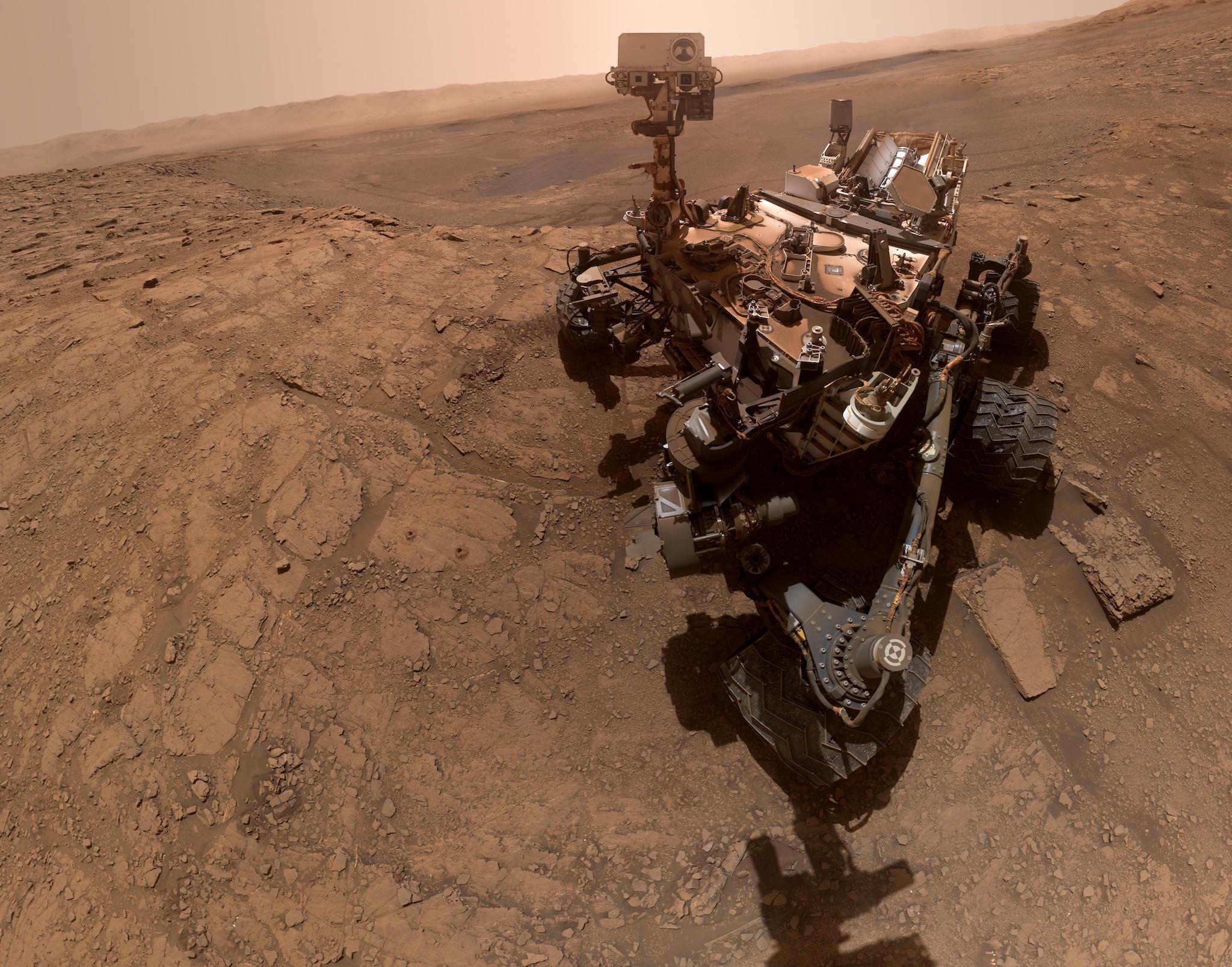 Planeta Marte selfie nasa curiosity