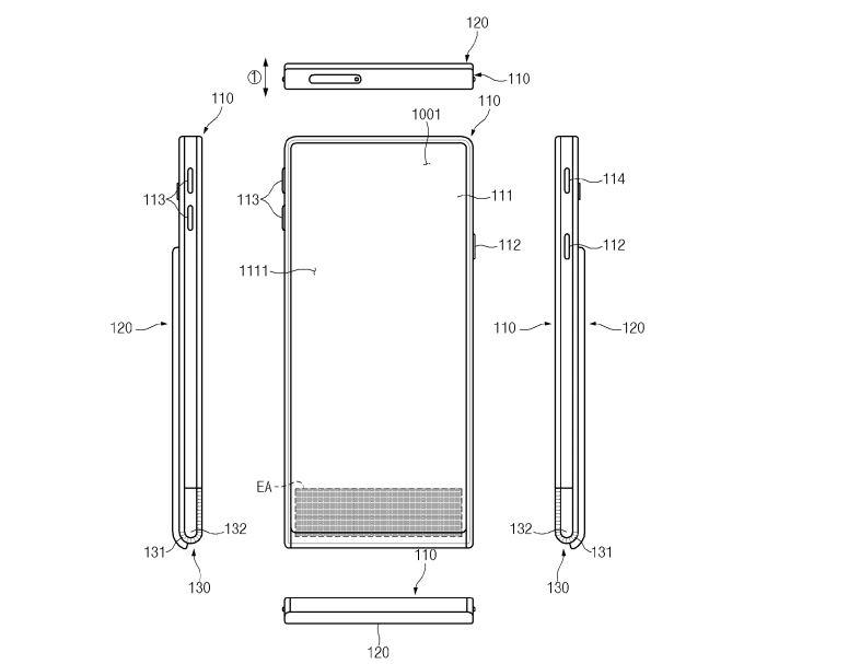 Samsung GALAXY S11 ecran rulat mecanism complex