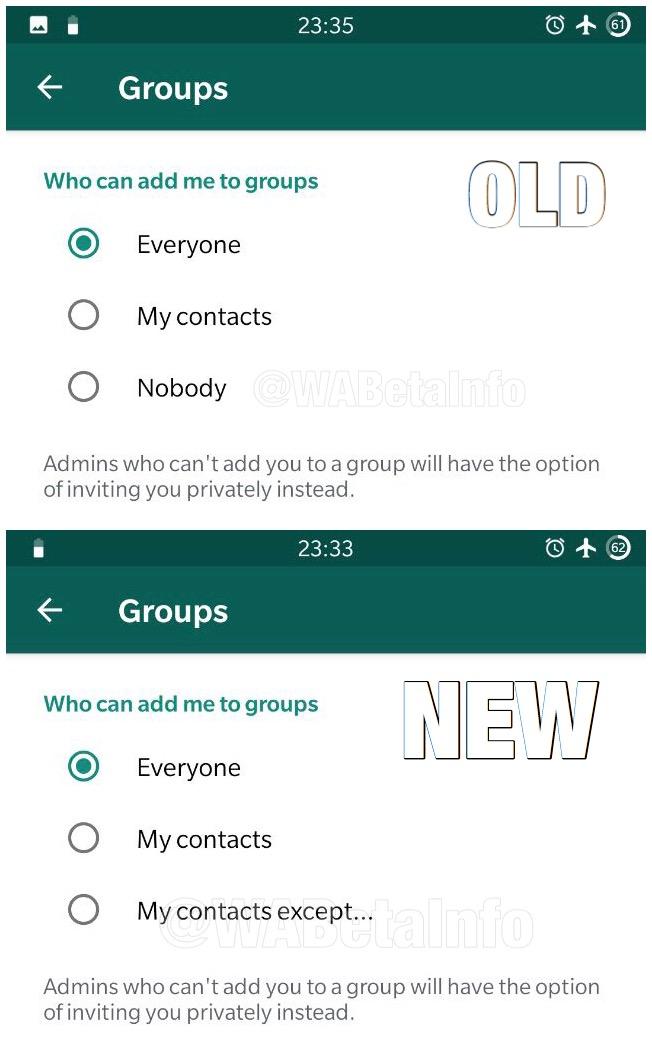 WhatsApp grupuri conversatii optiuni