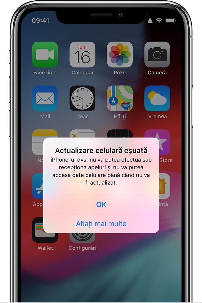 actualizare celulara esuata iOS 13.1.3