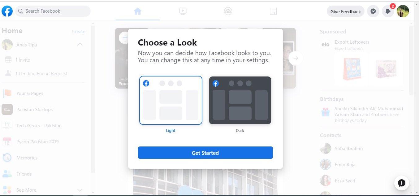 facebook arata noul design reteaua sociala alb 1