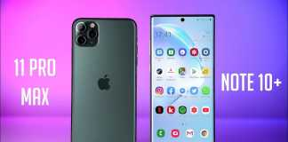 iPhone 11 Pro Max DISTRUGE Samsung GALAXY Note 10 Plus autonomie