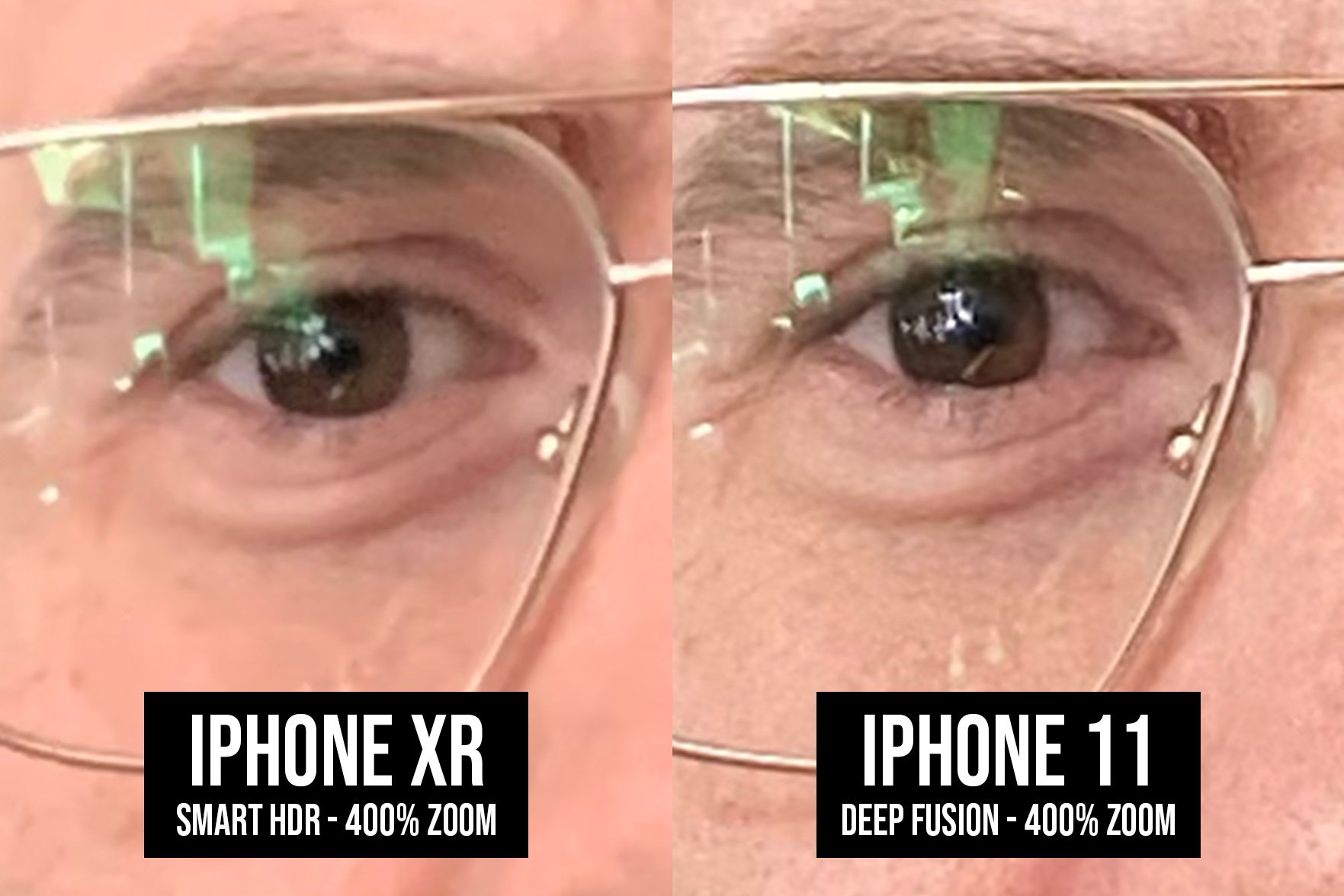 iPhone 11 poza deep fusion comparatie iphone xr